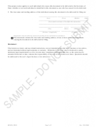 """""""Statement of Renewal of Registration of True Name - Sample"""" - Colorado, Page 2"""