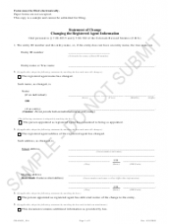 """""""Statement of Change Changing the Registered Agent Information - Sample"""" - Colorado"""