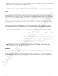 """""""Statement of Change Changing the Registered Agent Information - Sample"""" - Colorado, Page 2"""