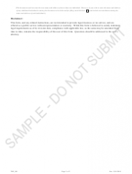"""""""Statement of Transfer of Reserved Name - Sample"""" - Colorado, Page 2"""