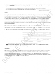 """""""Statement of Change Regarding Resignation or Other Termination of Registered Agent - Sample"""" - Colorado, Page 2"""