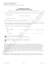 """""""Statement of Correction: Registered Agent Has Not Consented - Sample"""" - Colorado"""