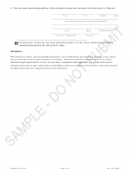 """""""Statement of Correction: Registered Agent Has Not Consented - Sample"""" - Colorado, Page 2"""