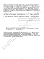 """""""Statement of Trademark Registration of a Reporting Entity - Sample"""" - Colorado, Page 2"""