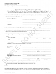 """""""Statement of Correction of Trademark Information Correcting the Address for Service of Process by Appointing a Registered Agent - Sample"""" - Colorado"""