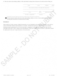 """""""Statement of Correction of Trademark Information Correcting the Goods or Services With Respect to Which the Trademark Is No Longer Used - Sample"""" - Colorado, Page 2"""