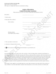 """Articles of Dissolution - Limited Partnership Associations - Sample"" - Colorado"