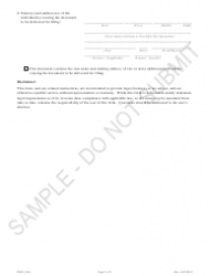 """Articles of Dissolution - Limited Partnership Associations - Sample"" - Colorado, Page 2"