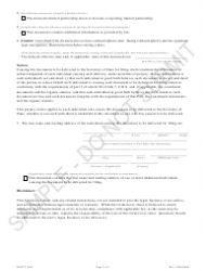 """""""Statement of Election to Be a Reporting Entity - Limited Partnerships - Sample"""" - Colorado, Page 2"""