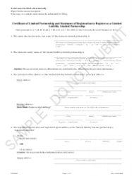 """Certificate of Limited Partnership and Statement of Registration to Register as a Limited Liability Limited Partnership - Sample"" - Colorado"