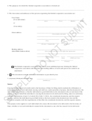 """""""Articles of Organization - Limited Cooperative Association - Sample"""" - Colorado, Page 2"""