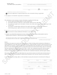 """""""Articles of Incorporation for a Cooperative Association - Article 55 Cooperative Association as a Public Benefit Corporation - Sample"""" - Colorado, Page 2"""