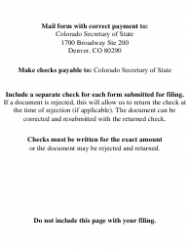 """""""Statement of Correction Correcting a Mistakenly Filed Domestic Entity That Was Mean to Be a Different Form of Domestic Entity - Limited Cooperative Association (Lca) as a Public Benefit Corporation"""" - Colorado, Page 8"""