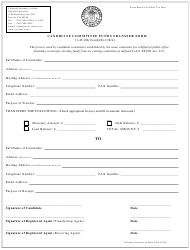 """""""Candidate Committee Funds Transfer Form"""" - Colorado"""