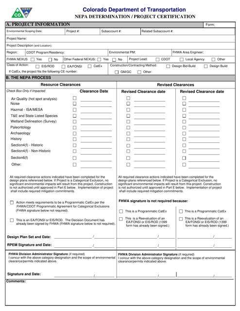CDOT Form 128B  Printable Pdf