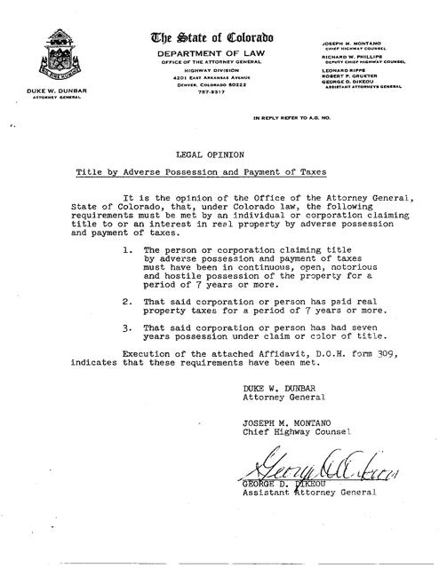 CDOT Form 309  Printable Pdf