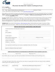 "Form CT-HR-5 ""Placement on Statewide Transfer List Request Form"" - Connecticut"