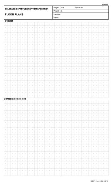 CDOT Form 456  Printable Pdf
