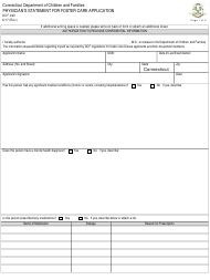 """Form DCF-020 """"Physician's Statement for Foster Care Application"""" - Connecticut"""