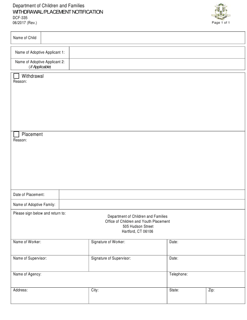 Form DCF-335  Printable Pdf