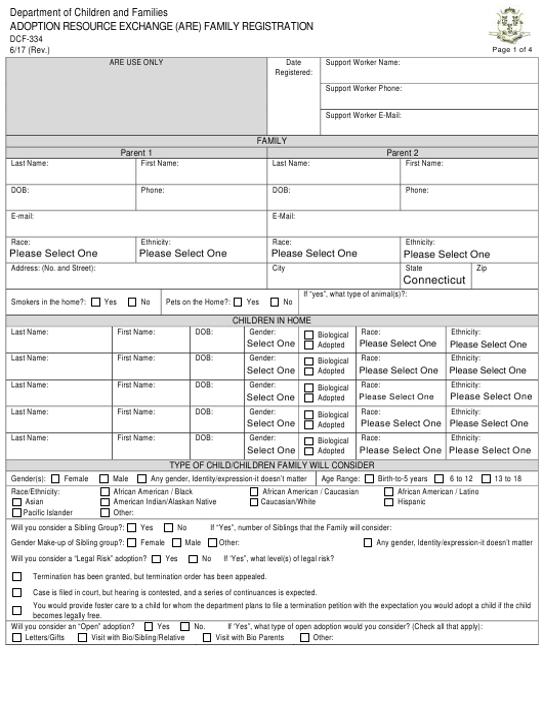 Form DCF-334  Printable Pdf
