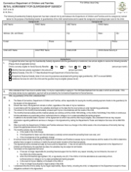Form DCF-418-IG Initial Agreement for Guardianship Subsidy - Connecticut