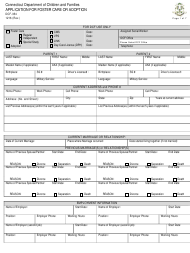 """Form DCF-354 """"Application for Foster Care or Adoption"""" - Connecticut"""