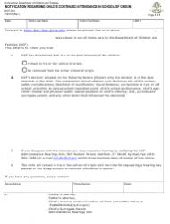 Form DCF-604 Notification Regarding Child's Continued Attendance in School of Origin - Connecticut