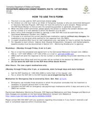 "Form DCF-465 ""Psychotropic Medication Consent Requests"" - Connecticut"