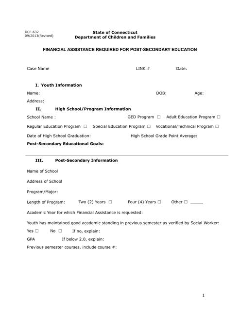 Form DCF-632  Printable Pdf