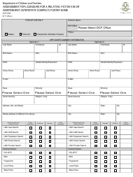 """Form DCF-805 """"Assessment for Licensure for a Relative, Fictive Kin or Independent (Interstate Compact) Foster Home"""" - Connecticut"""