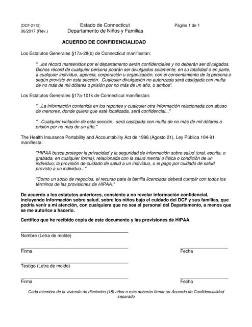 Formulario DCF-2112S  Printable Pdf