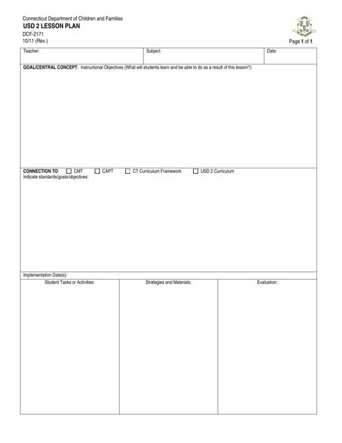 Form DCF-2171  Printable Pdf