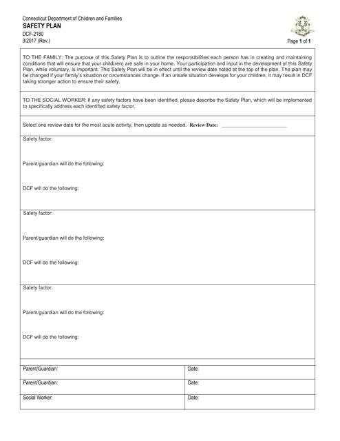 Form DCF-2180  Printable Pdf