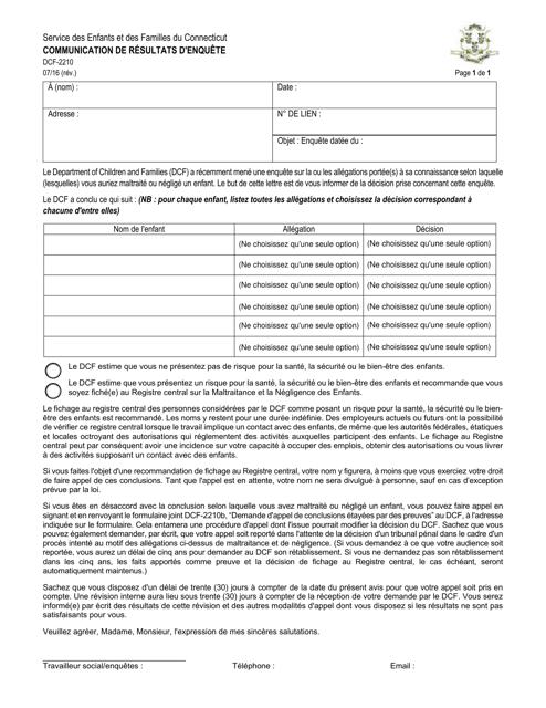 Forme DCF-2210 Printable Pdf