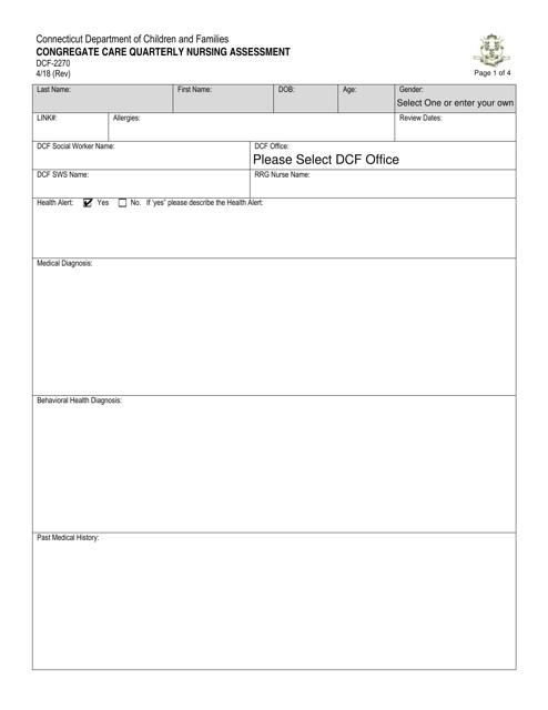 Form DCF-2270  Printable Pdf
