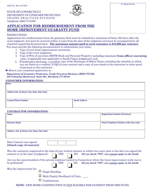 Form HIGF-01  Printable Pdf
