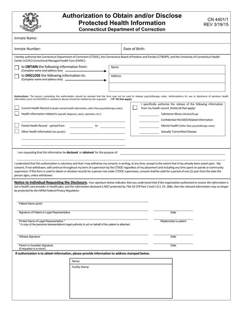 Form CN4401/1  Printable Pdf