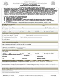 "Form DESPP-790-C ""Verification or Change of Registration Information"" - Connecticut"