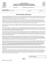 """Form DPS-405-C-1 """"Advisement of Secondhand Dealer Requirements"""" - Connecticut"""