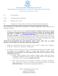 Form DPS-691-С-1 Request and Cancellation Form for State Police Traffic Services - Connecticut