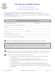 """Life Settlement Provider Renewal Application Form"" - Connecticut"