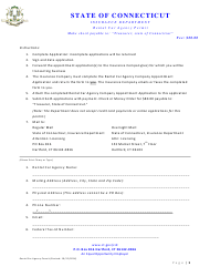 """Rental Car Agency Permit Application Form"" - Connecticut"