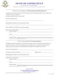 """Rental Car Agency Company Appointment Application Form"" - Connecticut"