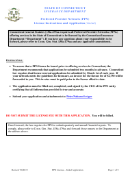 """Preferred Provider Network (Ppn) License Application Form"" - Connecticut"