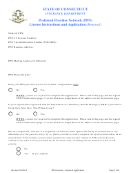 """Preferred Provider Network (Ppn) License Renewal Application Form (Renewal)"" - Connecticut, Page 2"