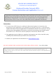 """Preferred Provider Network (Ppn) License Renewal Application Form (Renewal)"" - Connecticut"