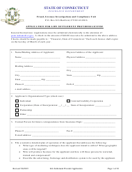 """Application for Life Settlement Provider License"" - Connecticut"