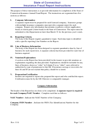 Instructions for Insurance Fraud Report Form