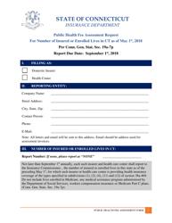 """Public Health Fee Assessment Request"" - Connecticut, 2018"